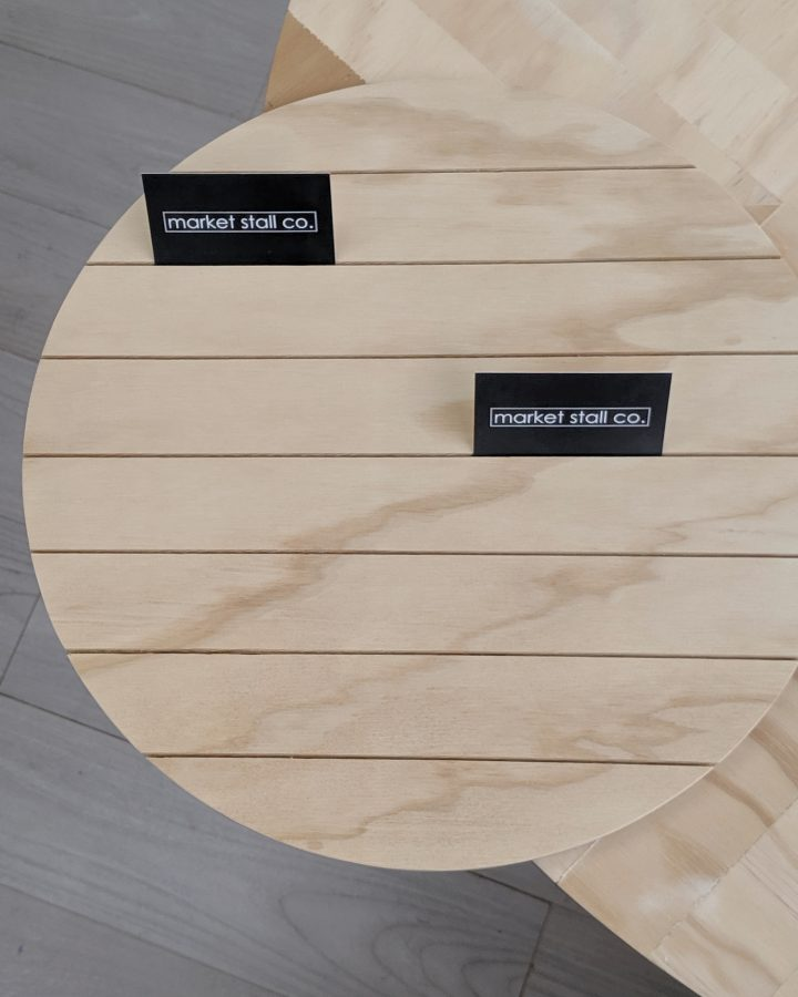 circle display tray by market stall co