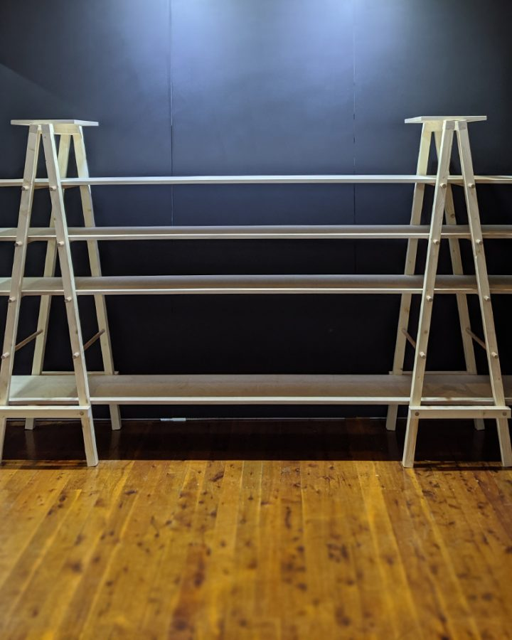 hinged ladder aframe by market stall co