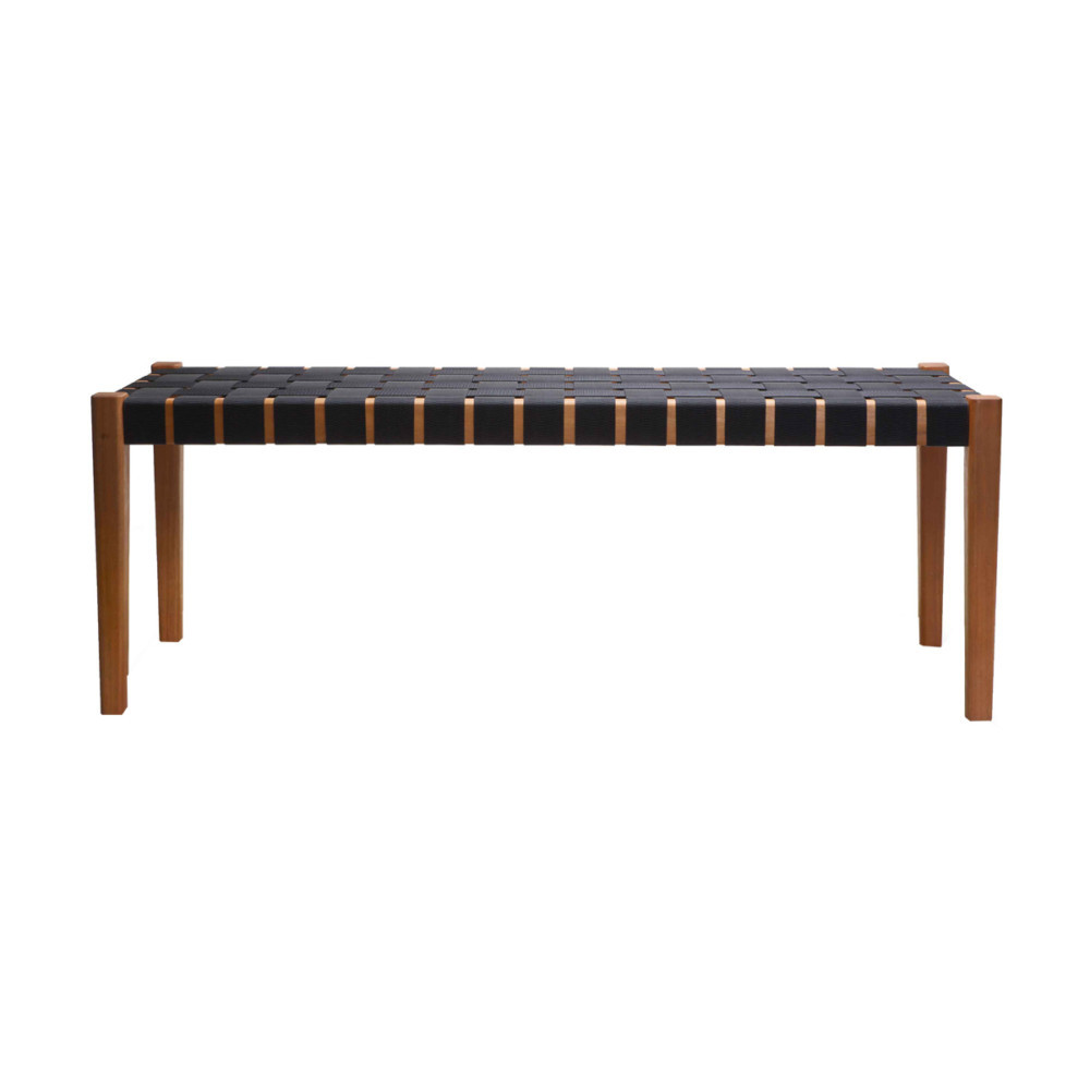 black woven bench
