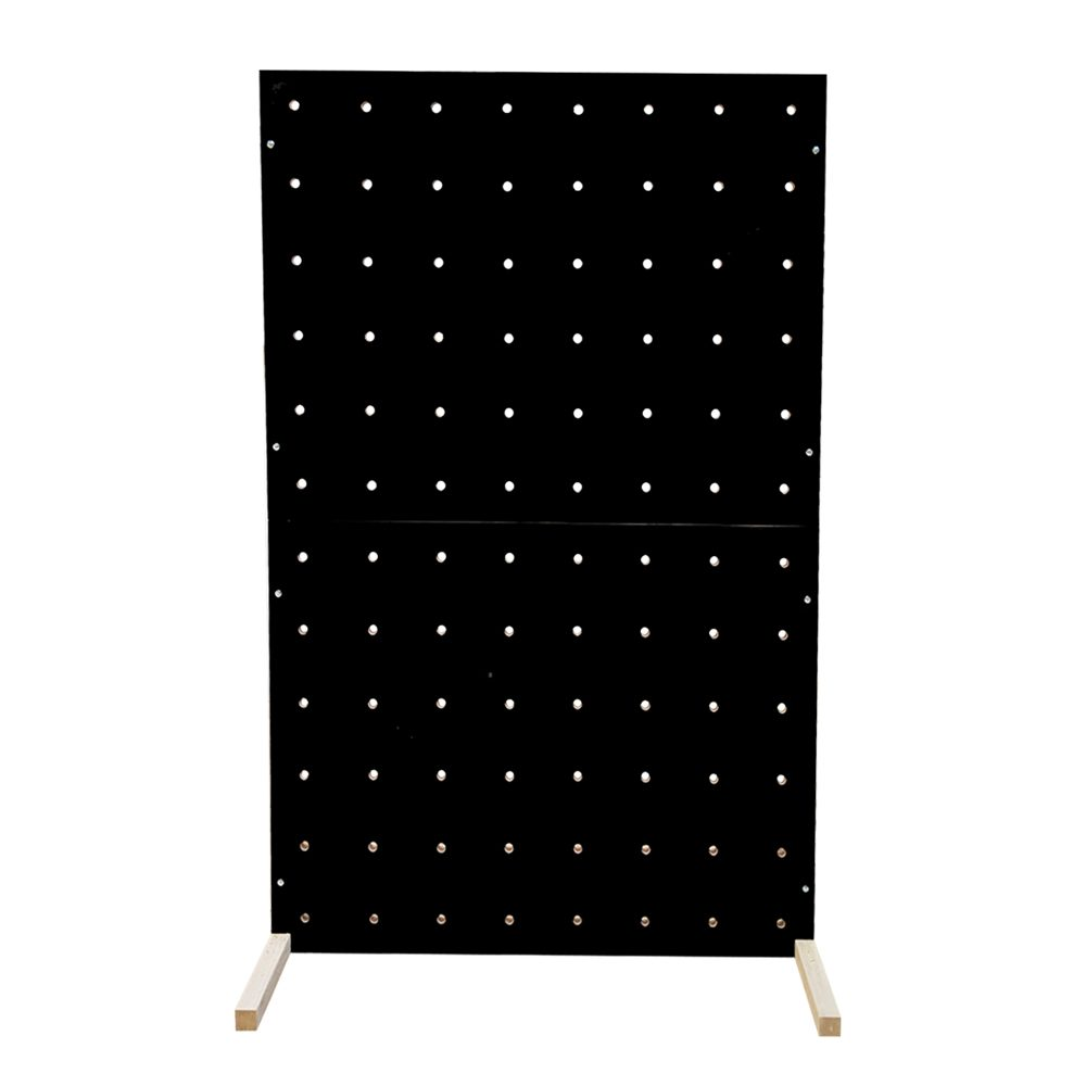 black pegboard colour freestanding peg boards