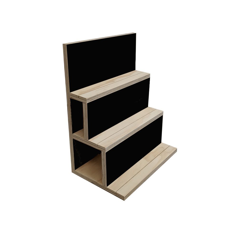 black vertical carded jewellery card display