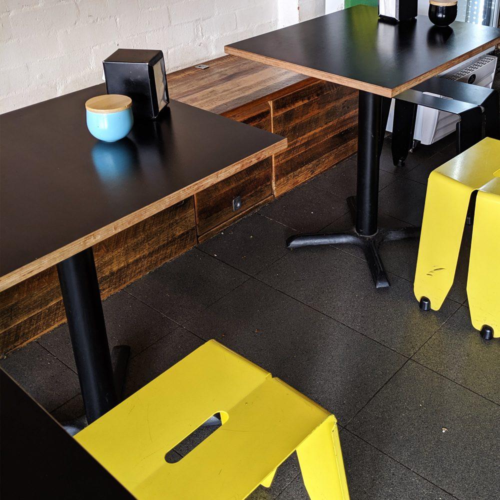 black cafe tables market stall co