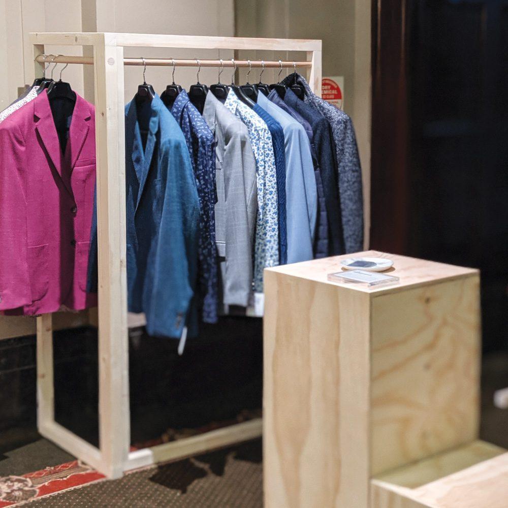 corner clothing rack market stall co