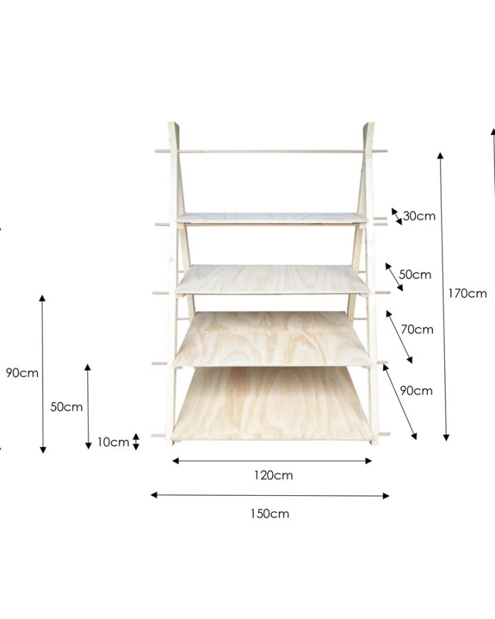 four tier a-frame dimensions