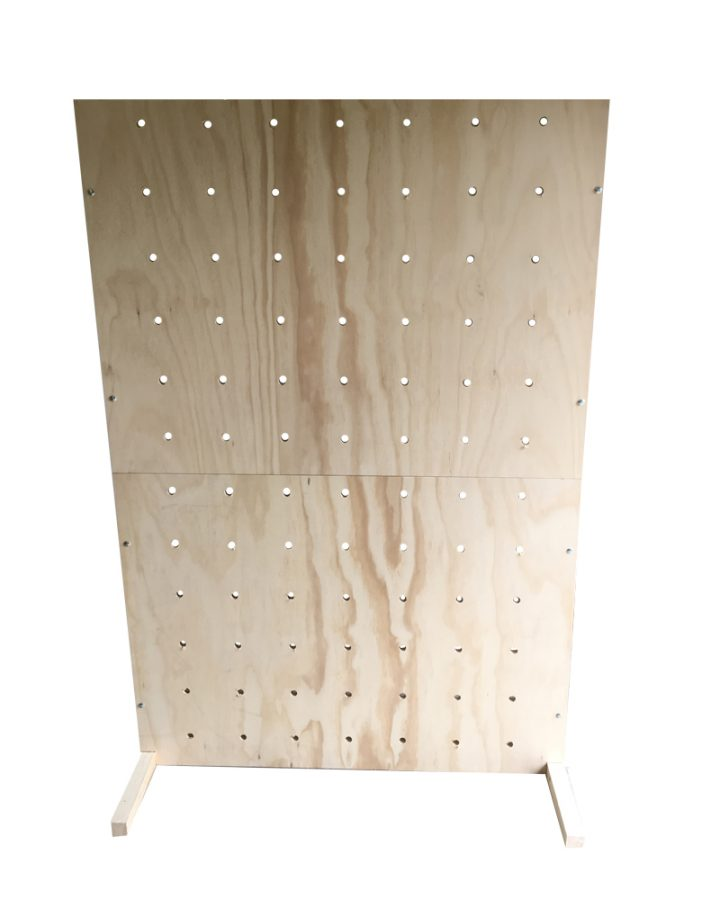 free standing peg board rental