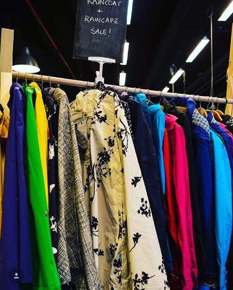 hanging a-frame raincoats