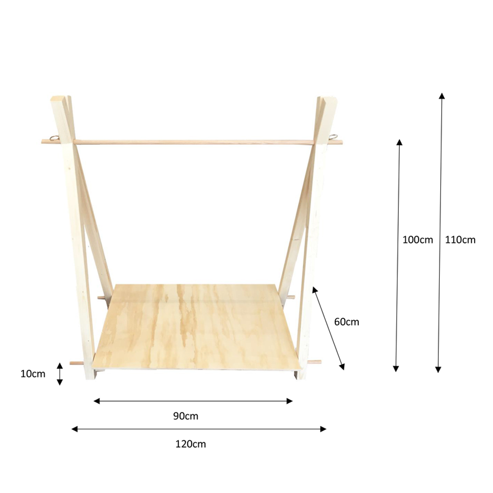 market stall co kids a-frame dimensions