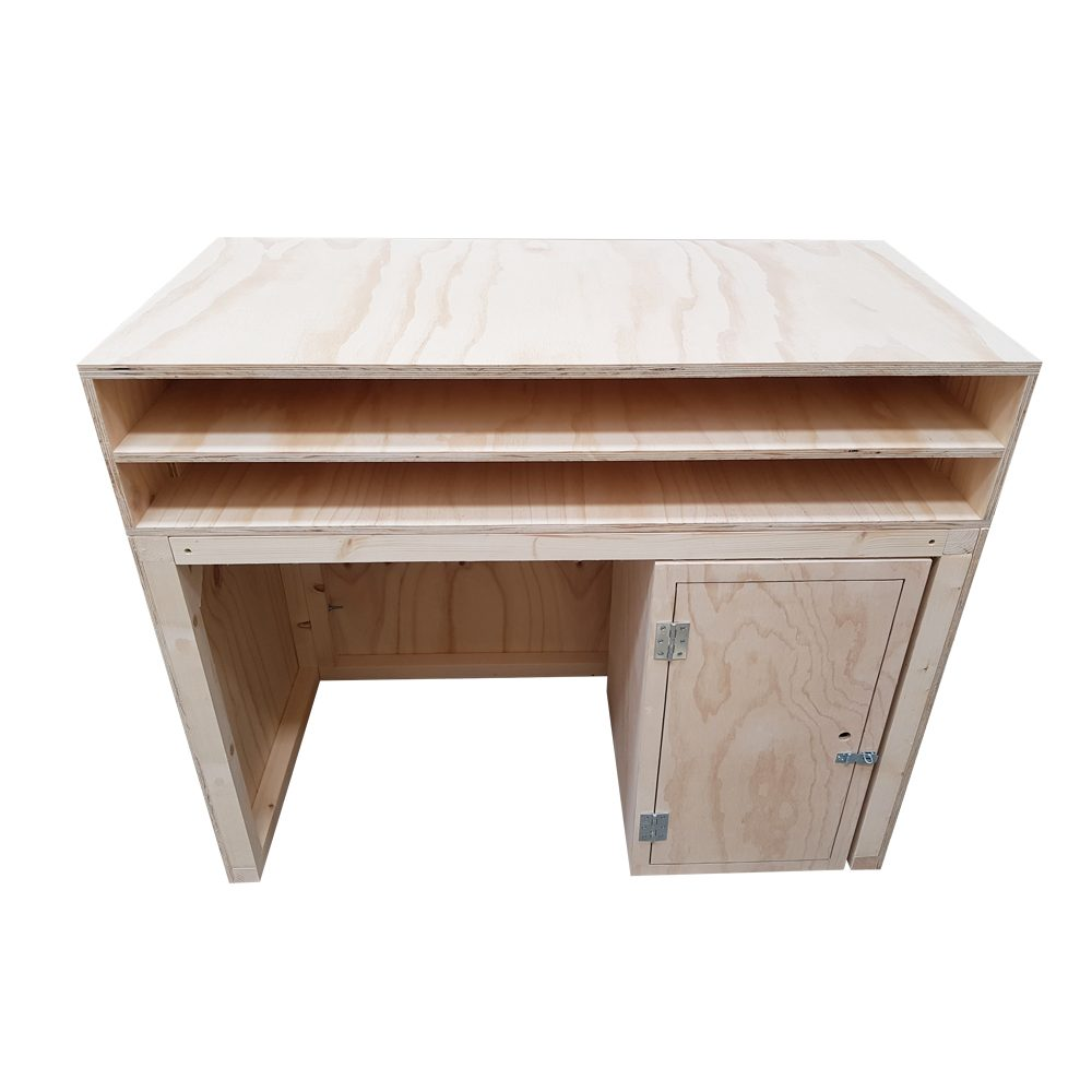 lockable plywood storage box with pos