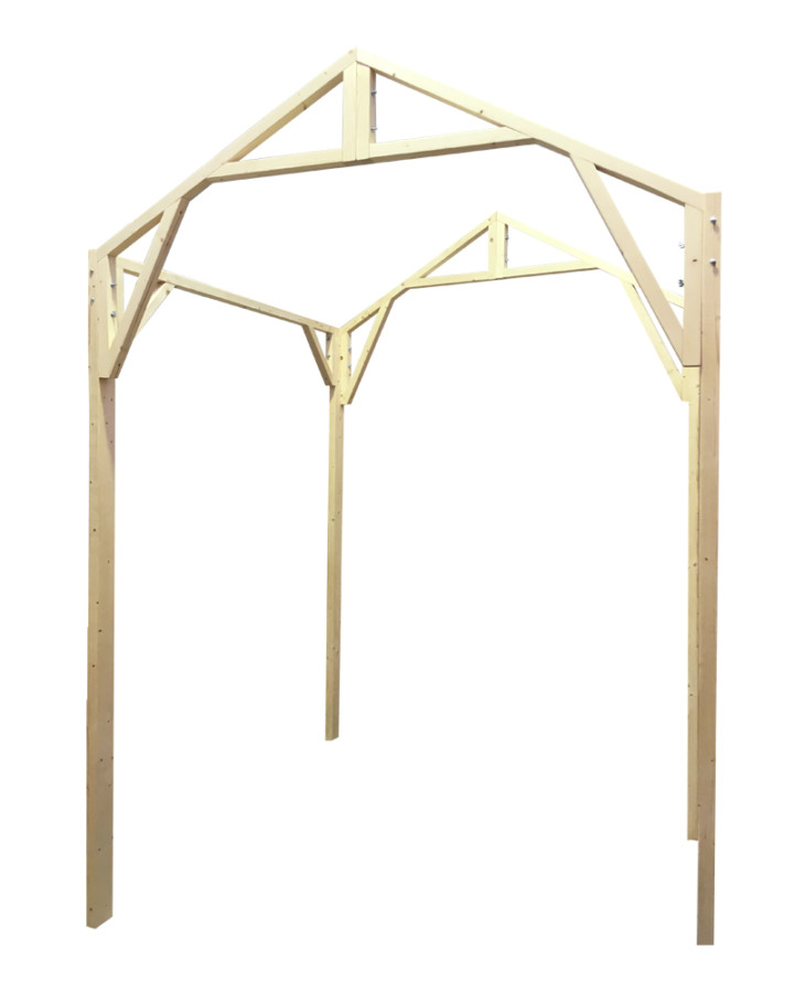 market stall co pitched roof frame