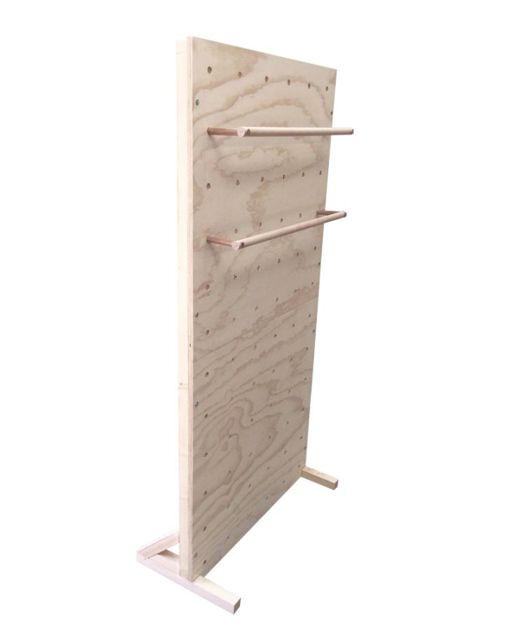 freestanding pegboard with pegboard rungs market stall co