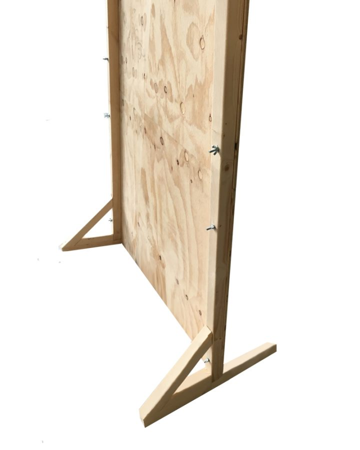 free standing ply walls market stall