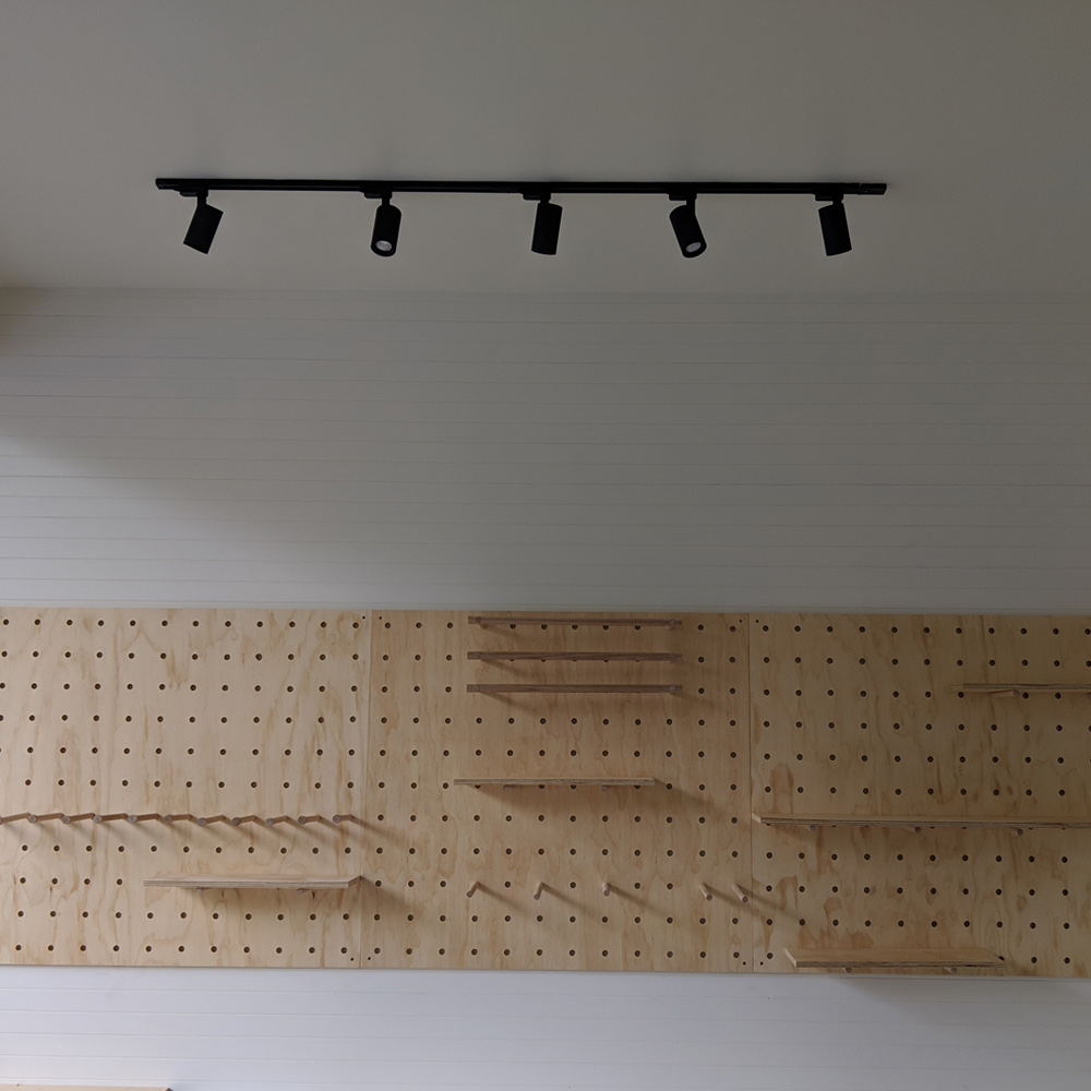 shop fit out pegboard wall, market stall co