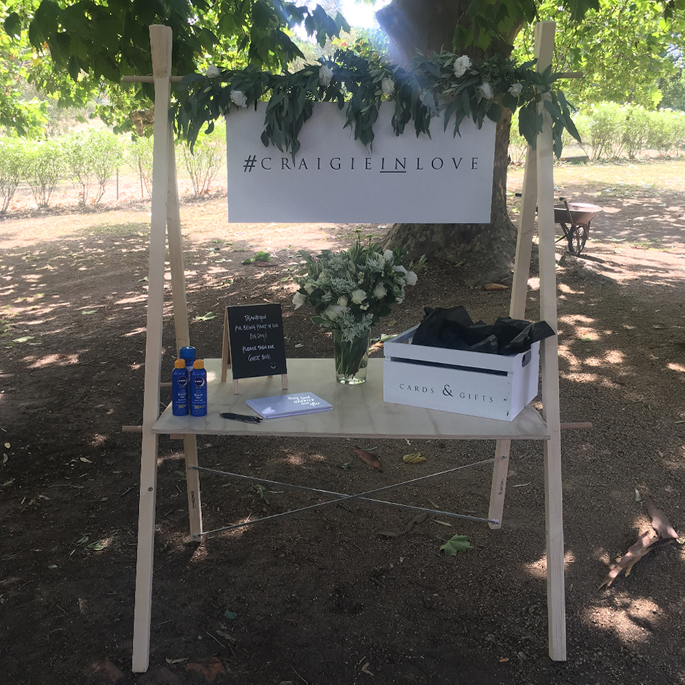 a-frame table for weddings and events