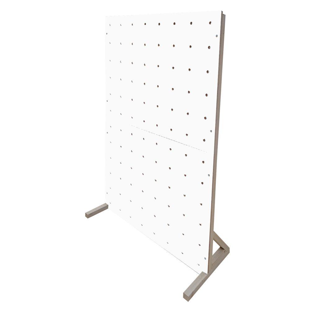 white pegboard colour freestanding peg boards