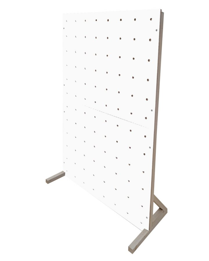 white pegboard colour freestanding peg boards