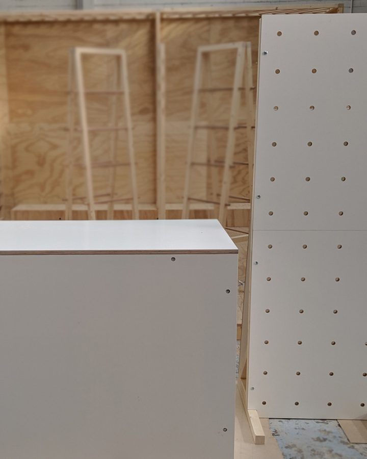 market stall co white freestanding pegboard