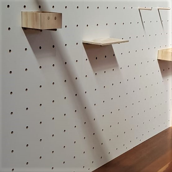 market stall co white pegboard