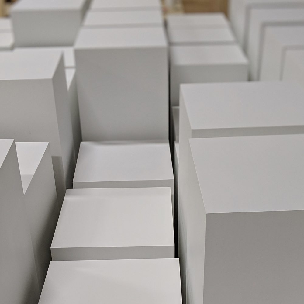 market stall co white plinths